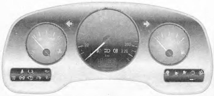 Контрольные лампы на панели приборов Опель Астра g  Контрольные лампы на панели приборов