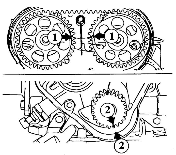 Схема ремня грм вектра в